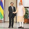 The Prime Minister, Shri Narendra Modi meeting the Prime Minister of Mauritius, Mr. Anerood Jugnauth, in New Delhi on October 30, 2015.jpg
