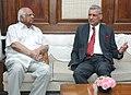 The Secretary General, Commonwealth, Mr. Kamalesh Sharma calling on the Speaker, Lok Sabha, Shri Somnath Chatterjee, in New Delhi on October 20, 2008.jpg