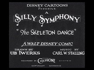 <i>The Skeleton Dance</i> 1929 film directed by Walt Disney