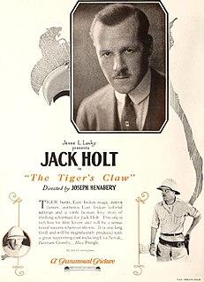 <i>The Tigers Claw</i> 1923 film by Joseph Henabery