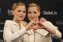 The Tolmachevy Sisters, ESC2014 Meet & Greet 26 (crop).jpg