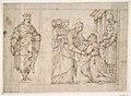 The Visitation of the Virgin to Saint Elizabeth; King Solomon in a Niche at Left. MET DP812156.jpg