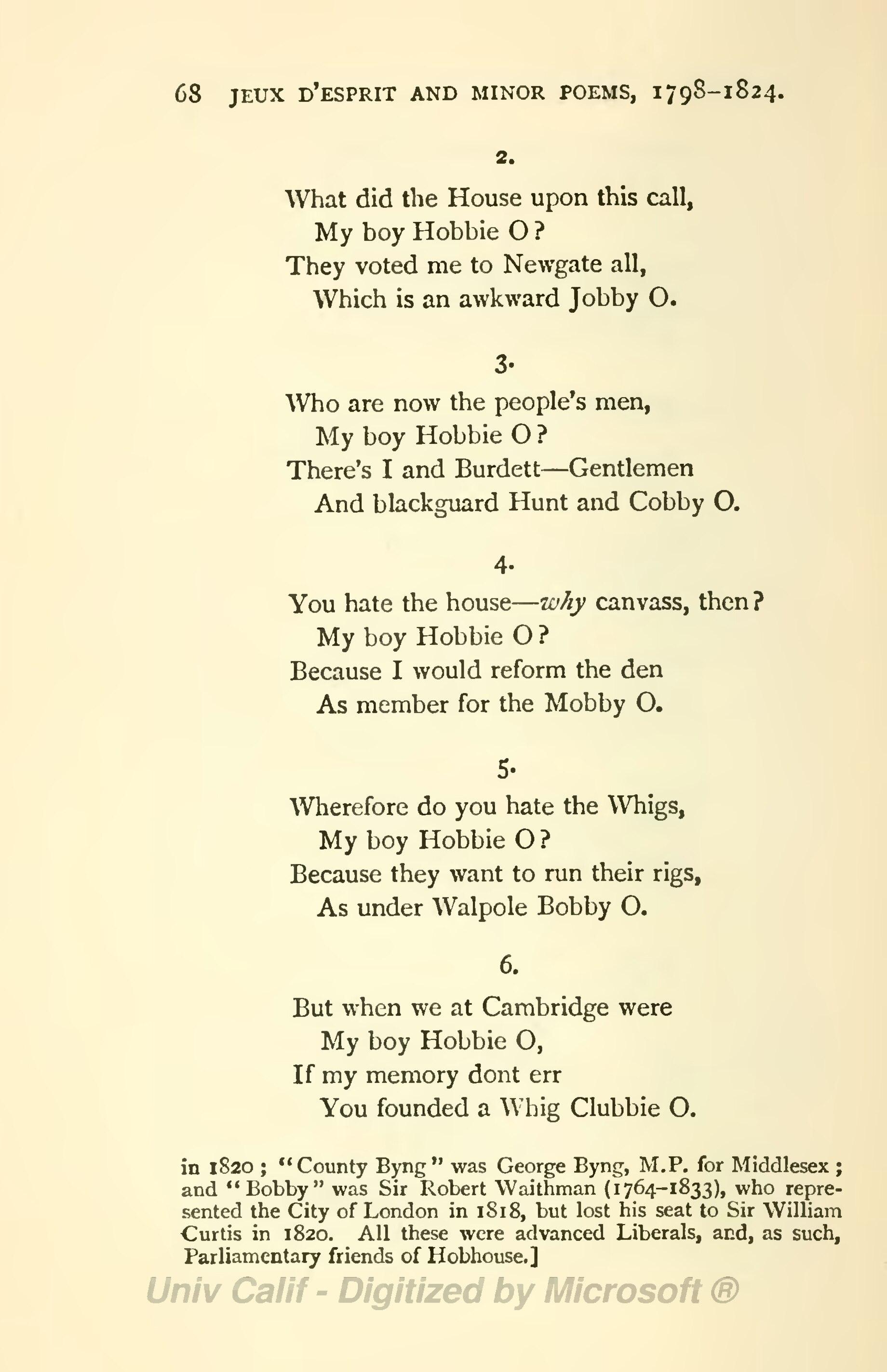 Pagethe Works Of Lord Byron Ed Coleridge Prothero