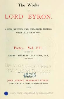 The Works of Lord Byron (ed. Coleridge, Prothero) - Volume 7.djvu