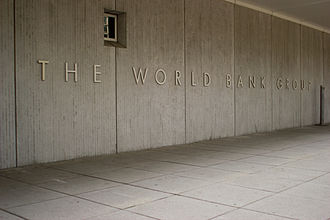 World Bank Group - The World Bank Sign on the building