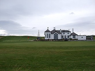 Elie Golf Club - The club house at Elie Golf Course