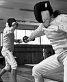 The fencers Aris Koutsouflakis and Konstaninos Blekos at Athenaikos Fencing Club.jpg