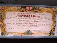 The invitation of opening of Tower Bridge, London.jpg