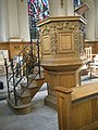 The pulpit at St Nicholas Cole Abbey - geograph.org.uk - 964369.jpg