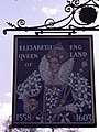 The reverse of the sign for the 'Elizabeth Queen of England' Public House - geograph.org.uk - 1249835.jpg