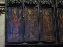 The seven canonised Saxon bishops of Hexham (part 1), former reredos, Hexham Abbey - geograph.org.uk - 748673.jpg