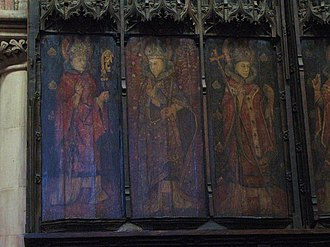 Eata of Hexham - Image: The seven canonised Saxon bishops of Hexham (part 1), former reredos, Hexham Abbey geograph.org.uk 748673