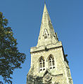 The spire of St. Edward's Church - geograph.org.uk - 282598.jpg