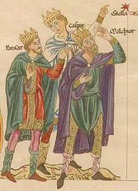 The three Magi (Balthasar, Caspar, Melchior)