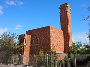 Thebarton, South Australia - Thebarton Incinerator, designed by Walter Burley Griffin, viewed from the northeast.