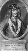 Theodor von Neuhoff (zeitgenössischer Kupferstich)