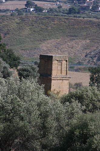 """Theron of Acragas - The so-called """"Tomb of Theron"""" near  the Porta Aurea, Agrigento"""