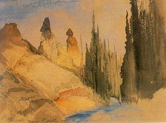 Yellowstone National Park - Thomas Moran painted Tower Creek while on the Hayden Geological Survey of 1871