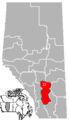 Three Hills, Alberta Location.png