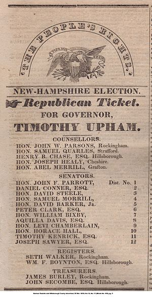 Timothy Upham -  Nashua Gazette and Hillsborough County Advertiser; March 05, 1830; Vol. IV, No. 13 (Whole No. 169); pg. 3.