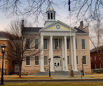 Wellsboro Historic District - Tioga County Court House, January 2011