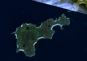 Satellitenbild von Tiree