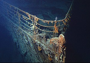 Wreck of the RMS Titanic - Image: Titanic wreck bow