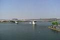 Tokyo monorail - Keihin-ohashi bridge from kyouwa-hashi bridge (488413811).jpg
