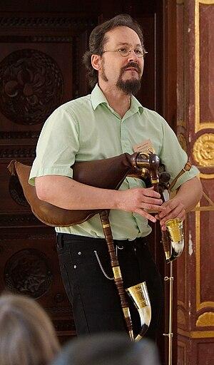Bock (bagpipe) - Tomáš Spurný playing an Egerland-style Bock
