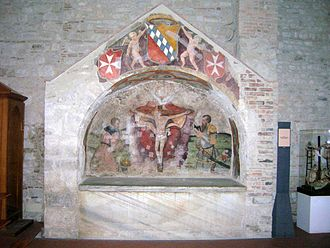 Robert Guiscard - Hauteville family mausoleum, where Robert Guiscard was buried. Trinity Abbey in Venosa, Italy.