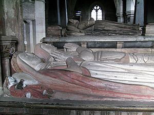 Reginald Corbet - Tomb of Reginald's maternal grandparents, Anne Talbot (died 1494) and Henry Vernon (died 1515) in St Bartholomew's church, Tong, Shropshire.