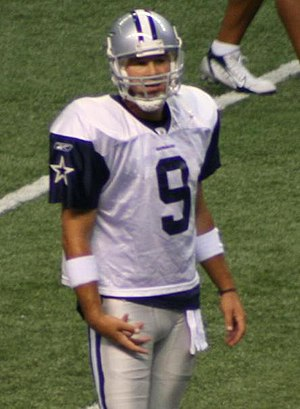 Tony Romo (en) at a Dallas Cowboys (en) preseason.