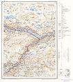 Topographic map of Norway, E29 vest Lom, 1966.jpg