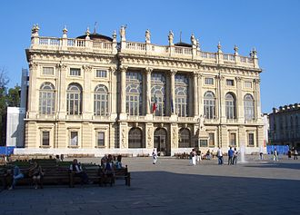 Palazzo Madama, Turin - Juvarra's façade of the palace