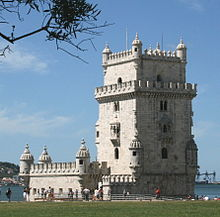 Belém Tower, built in the 1510s and a symbol of the Age of Discovery.