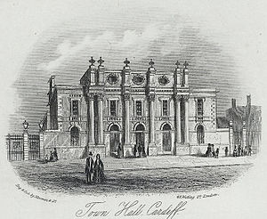 City Hall, Cardiff - Horace Jones's Town Hall on St Mary Street