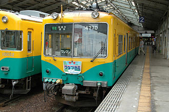 Toyama Chihō Railway - A 14760 series train
