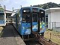 Train for Nishikicho Station at Seiryu-Shin-Iwakuni Station.jpg