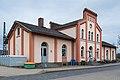 Train station building Sarstedt road side Sarstedt Hildesheim Germany.jpg