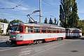 Tram in Sofia in front of Tram depot Banishora 012.jpg