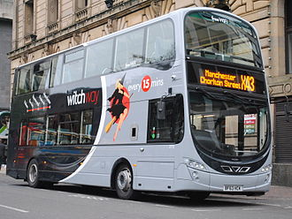 Burnley Bus Company - Witch Way liveried Wright Eclipse Gemini in Manchester in 2013