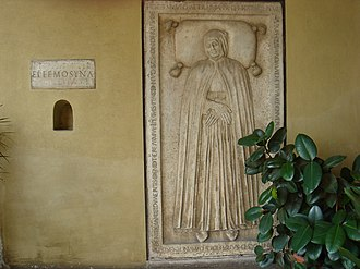 Nicola da Forca Palena - Tomb in the church he himself founded.