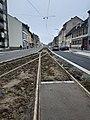 Travaux tram Strasbourg-Koenigshoffen (2019), station Comtes 03.jpg