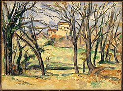Paul Cézanne: Trees and Houses Near the Jas de Bouffan