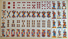 a9bb9291003dc9 Traditional North Italian playing cards, like the Tarot of Marseilles,  distinguish batons from swords by the use of straight versus curved lines.
