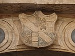 Trento-Palazzo Thun-detail of coat of arms over portal.jpg