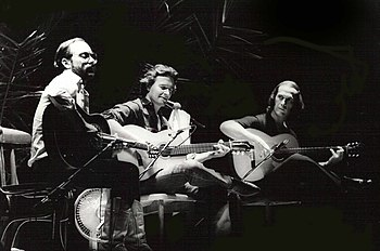 Left to Right: Al Di Meola, John McLaughlin an...