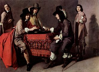 Le Nain - Les joueurs de tric-trac by the Le Nain Brothers, Musée du Louvre
