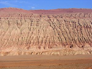 "Turpan - View of the ""Flaming Mountains"""