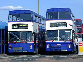 MCW Metrobus - Travel West Midlands Metrobuses MkIIs in Dudley in April 2006
